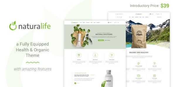 NaturaLife v1.9 – Health & Organic WordPress Theme
