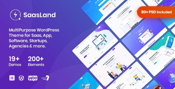 SaasLand v3.0.3 – MultiPurpose Theme for Saas & Startup nulled