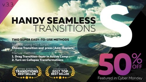 Handy Seamless Transitions Pack and Script v.3.3.2 – Project for After Effects (VideoHive)