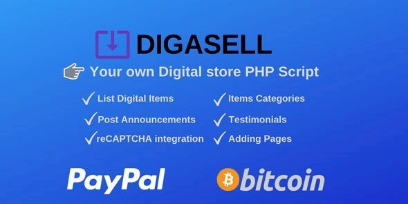 DigaSell – Digital store PHP Script