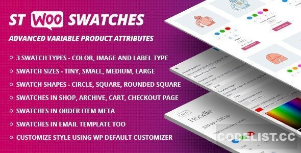 WooCommerce Swatches v1.1.0 ( Color, Image and Label Swatch )