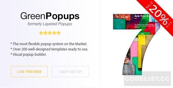 Green Popups (formerly Layered Popups) v7.02 – Standalone Popup Script
