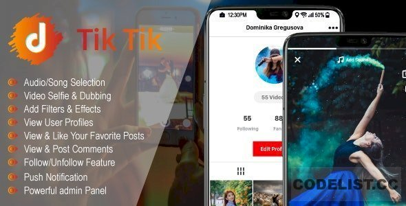 TicTic v2.5 – Android media app for creating and sharing short videos