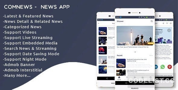 ComNews v1.0 – Android News App with Admin Panel
