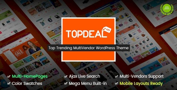 v.1.7.2.1 – TopDeal WooCommerce Theme Nulled