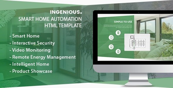 v.1.1.7.1 – Ingenious – Smart Home Automation HTML Template Nulled