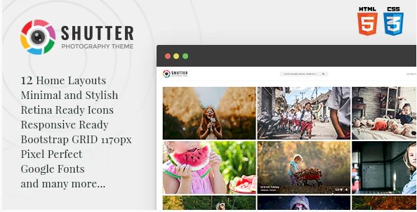 v.1.0.1 – Shutter – Photography HTML5 Template Nulled
