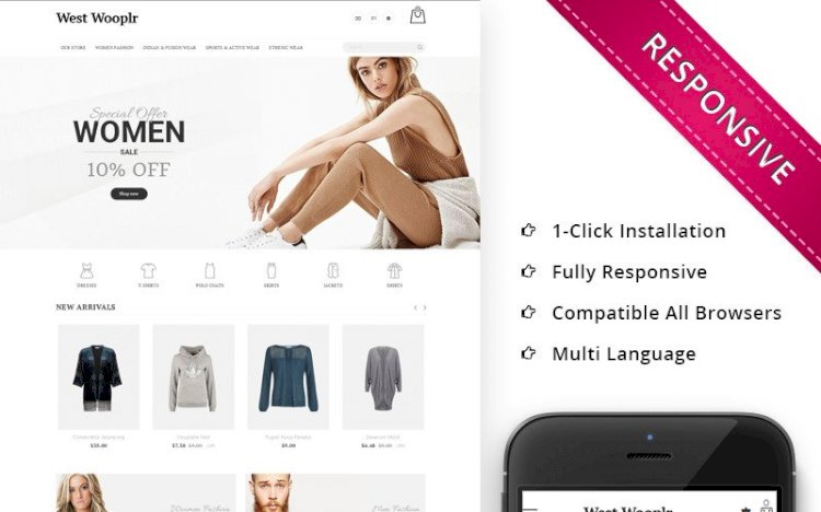 West Wooplr – The Fashion Store PrestaShop Theme Nulled Download