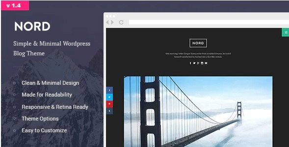 Nord – Simple, Minimal and Clean WordPress Personal Blog Theme Nulled v.1.4 Free Download