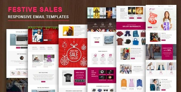 Festive Sales Nulled v.1.0.1 – Responsive Email Template with Online StampReady & Mailchimp Editors Free Download