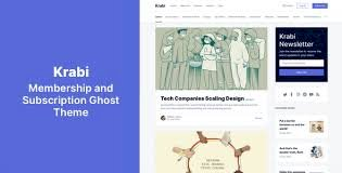 Krabi Nulled v.1.0.1 – Membership and Subscription Ghost Theme Free Download
