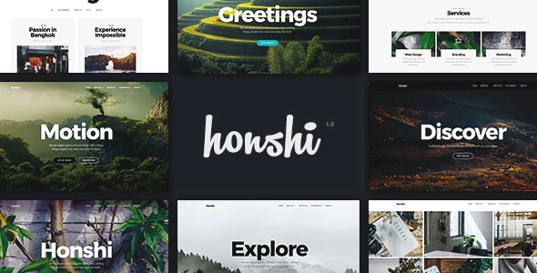 Honshi – WordPress Multi Purpose Creative Portfolio Theme v2.5.1