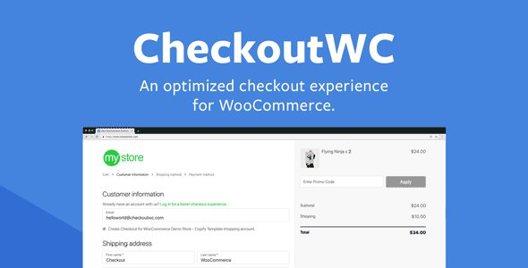 CheckoutWC – Optimized Checkout Pages for WooCommerce v5.2.0 Nulled