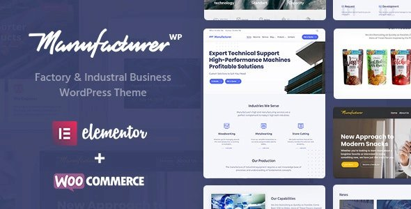 Manufacturer – Factory and Industrial WordPress Theme v1.3.4 Nulled
